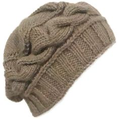 Knitted Womens Beanie Hat in Camel the Cable Knit by earflaphats, $30.00