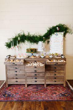 swedish christmas wedding inspiration -- sweets table. this is too good.