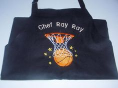 SPORTS Basketball Baking Apron PERSONALIZED Name Various Colored Fabric cooking #ApartmentK9West