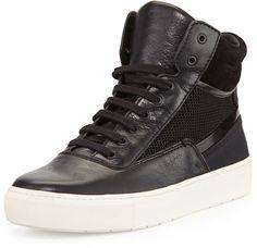 Vince Newman-6 High-Top Sneaker, Black