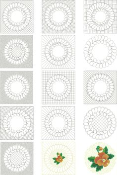 Feather Wreath Quilting Designs