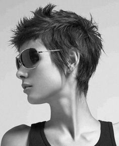 Spiked Short Pixie - Sassy!  Hmmm....am I sassy? No. I don't think so. But this is soooo fun.