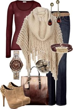 50+ Cute Fall & Winter Outfit Ideas 2017  - Are you looking for something heavy to wear? Do you want new fall and winter outfit ideas to try in the next year? In the fall and winter seasons, the... -  fall-and-winter-outfit-ideas-2017-65 .