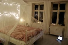 i've always wanted a mosquito net or some sort of canopy above my bed
