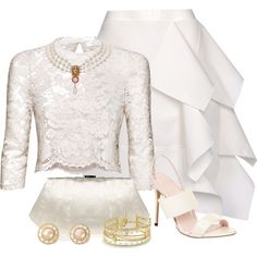 """""""Color Combo. #8 White  Cream"""" by suzky68 on Polyvore"""