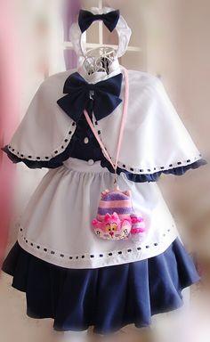 Cute anime maid cosplay maid cos Moe small shawl ladies lolita V 8a0030bd42b4