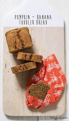 Pumpkin + Banana Toddler Bread — Baby FoodE | organic baby food recipes to inspire adventurous eating