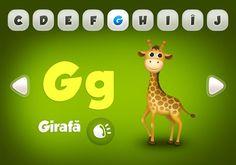 FunABC de la Ejuk - Cand invatam literele? Giraffe Illustration