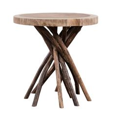 Furniture Amazing Cheap Rustic End Tables Cut Tree Design Table Top Tree Branch Pedestal Table Legs Natural Wood Finish Unique Round End Table Amazing Cheap Rustic End Tables Table, Mod Furniture, Modern Home Furniture, End Tables, Modern Table, Modern Accent Tables, Modern Furniture, Furniture, Teak Side Table