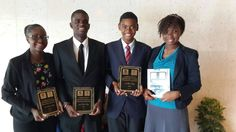 2015 Caribbean District Oratorical Contest winners - all hailing from Barbados and we are proud: 2nd place winner (Girls), Nicola King, 2nd place winner (Boy), Trey Cumberbatch, Winner (Boys), Jermaine Als & winner, (girls) Mequissa Baptiste