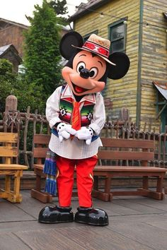 Mickey in an amazing outfit I've never seen before.