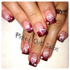 Valentine fade by AndreaLosee from Nail Art Gallery