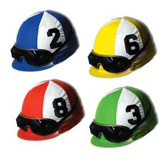 KENTUCKY DERBY PARTY COASTERS JOCKEY HELMETS