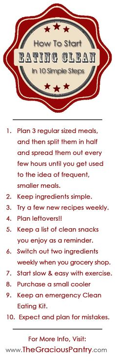 How to start eating clean in 10 simple steps.