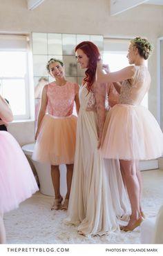 in her custom-made Elbeth Gillis gown. Bridesmaid Dress Styles, Wedding Dresses, Bridesmaids, Wedding Goals, Wedding Day, Bridesmaid Inspiration, Elegant, Spring Wedding, Dress For You