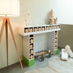 [MAKE IT] Vous n'avez pas de cheminée ? Recréez l'ambiance de Noël grâce à une cheminée faite maison ! #DIY #cheminee #noel #makeit #LappartByLeroyMerlin