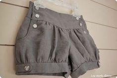 Léon bloomer shorts pattern so cute! Diy Clothing, Sewing Clothes, Clothing Patterns, Dress Patterns, Sewing For Kids, Baby Sewing, Lolita Fashion, Diy Fashion, Style Lolita