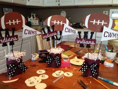 Pins daddy football basketball cheer cheerleading decorations picture to pi Cheer Banquet, Football Banquet, Football Cheer, Football And Basketball, Football Player Gifts, Football Couples, Football Awards, Football Parties, Youth Football