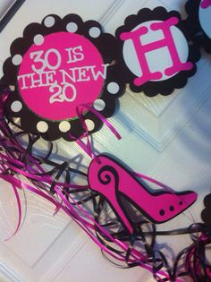 This is a super fun banner that can be put together in colors of your choice to celebrate a Big Birthday. This was a super fun custom order from one of