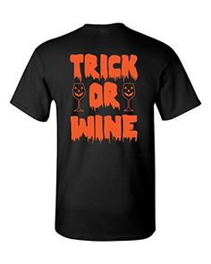 Short Sleeve Halloween T-Shirt Trick Or Wine Southern Ele…