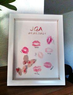 DIY Junggesellenabschied JGA, Kuss, Kiss Andenken Erinnerung Schmetterling Freundinnen