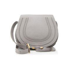 Rental Chloe Calfskin Marcie Medium Crossbody Bag ($150) ❤ liked on Polyvore featuring bags, handbags, shoulder bags, grey, crossbody handbags, chloe shoulder bag, gray handbags, gray cross body purse and grey purse