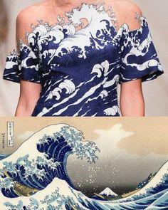 Alena Akhmadullina // Hokusai - Another! Fashion 2018, Fashion Art, High Fashion, Fashion Show, Fashion Outfits, Fashion Tips, Fashion Design, Cool Style, My Style