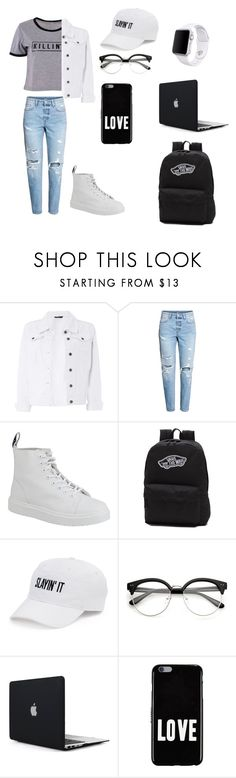 """""""SLAY"""" by caitlinkansil on Polyvore featuring Dorothy Perkins, H&M, Dr. Martens, Vans, SO, Givenchy and Apple"""