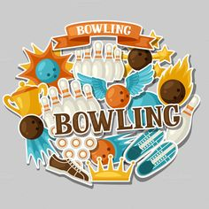 Backgrounds with bowling items on @creativework247
