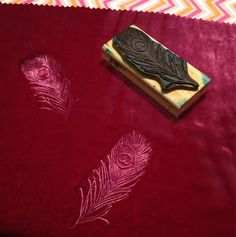 Julie gives an easy DIY tutorial on how to emboss velvet with rubber stamps!