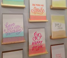 Hand dip-dyed notecards by Moglea at The 2013 National Stationery Show