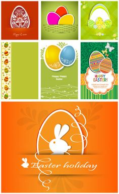 Easter card designs vector