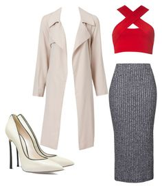 """❤️"" by madsha on Polyvore featuring Topshop, Motel, Casadei, women's clothing, women's fashion, women, female, woman, misses and juniors"