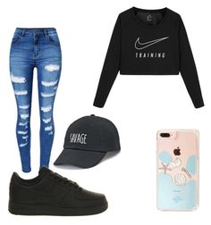 """""""Untitled #100"""" by daylajd on Polyvore featuring WithChic, NIKE and SO"""