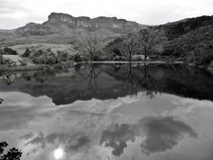 a captivating scenic reflection by Drakensberg Mountain Retreat South Africa, Reflection, Mountain