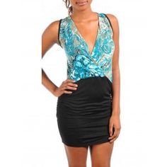 Dress S M L Floral Sublimation Aqua Blue Sleeveless Crossover Tank Ruched Sexy Club Dresses, Formal Dresses, Sexy Cocktail Dress, Leggings, Tank Dress, Aqua Blue, Clubwear, Grey And White, Tankini