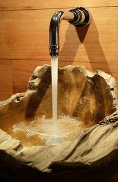 bacha rustica para baño
