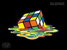 Melting Rubiks - Tshirt Back in Stock  Visit Glennz Tees  | Twitter  | Facebook  | Flickr   | Behance  | Dribbble
