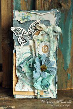 Zinc plot: turquoise flowers ...