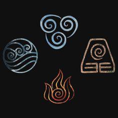 The four Elements Avatar symbols by Ellen Kapelle