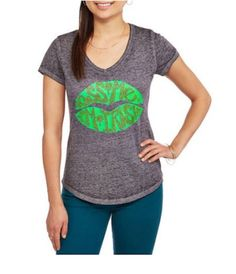 Rocker Girl St. Patricks Day Burnwash Tee S M L XL XXL 2XL Juniors Tshirt #RockerGirl #EmbellishedTee