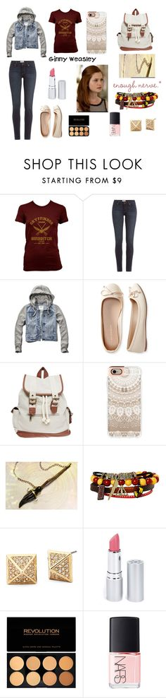 """Ginny Weasley back to school/ casual"" by fandomrandomness ❤ liked on Polyvore featuring moda, Paige Denim, Abercrombie & Fitch, Aéropostale, Wet Seal, Casetify, HoneyBee Gardens y NARS Cosmetics"