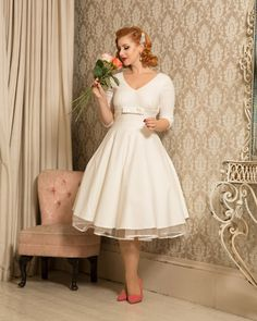 http://pinup-fashion.com/en/6726/new-collection-voodoo-vixen/ --- New Collection @ Voodoo Vixen --- #petticoatdress #petticoat #vintage #vintagedress #creme #cremedress #Weddingdress