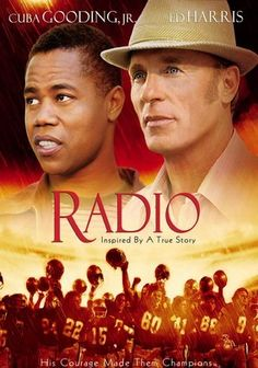Radio... Football coach Harold Jones befriends Radio, a mentally challenged man who becomes a student at T.L. Hanna High School. Their friendship extends over several decades, where Radio transforms from a shy, tormented man into an inspiration to his community.