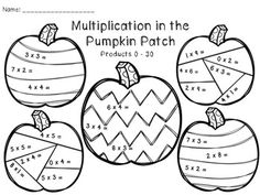 best math printables and worksheets images  addition  multiplication and division in the pumpkin patch
