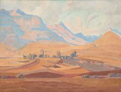 Bonhams Fine Art Auctioneers & Valuers: auctioneers of art, pictures, collectables and motor cars African, Art Painting, Landscape Paintings, Fine Art, Painting, South African, Cool Art, African Artists, Pictures