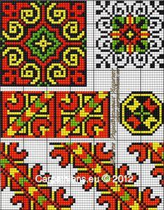 МОЯ ВИШИВАНКА: Узори гуцулів. Гуцульські орнаменти. Гуцульська вишивка від Галини Михайлюк Hand Work Embroidery, Folk Embroidery, Embroidery Patterns Free, Doily Patterns, Mosaic Patterns, Loom Patterns, Cross Stitch Embroidery, Cross Stitch Patterns, Fibre And Fabric