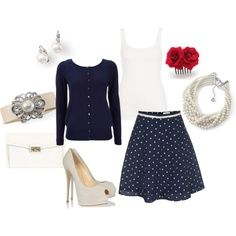 White Dots Skirt