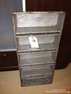 "1940's aluminum bakery tin (Holland)  13""W x 3.75""D x 29.25""H $39"