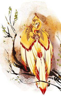 Ancient harpy by grimzzi